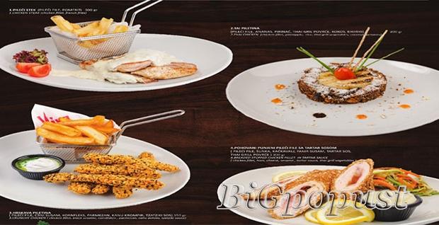 820, rsd, za, dva, jela, po, izboru, pilei, stek, sa, sosom, od, pecuraka, pohovani, punjeni, pileci, file, sa, tartar, sosom, tai, piletina, i, hrskava, piletina