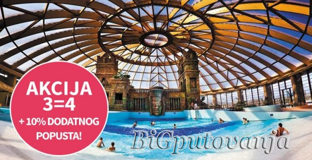 AKCIJA 3=4 NOCI - AQUAWORLD - (SPA & RELAX - AQUA PARK) - Hotel Aquaworld Resort Budapest 4* vec od 164e