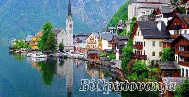 jezera, austrije, izlet, haltat, i, volfgangze,