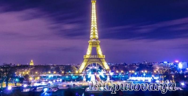 1000 rsd vaučer za extra popust na putovanje u Pariz autobusom - 4 noćenja u hotelima sa 3* (3 u Parizu i 1 Bratislavi za 225e 4